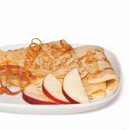 Palacinka s jablkami a príchuťou karamelu