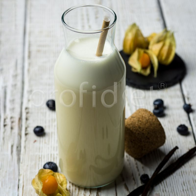 Mliečny kokteil s vanilkovou príchuťou