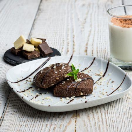 Brownie s kúskami bielej čokolády bez lepku