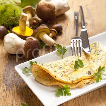 Omeleta s hríbikmi