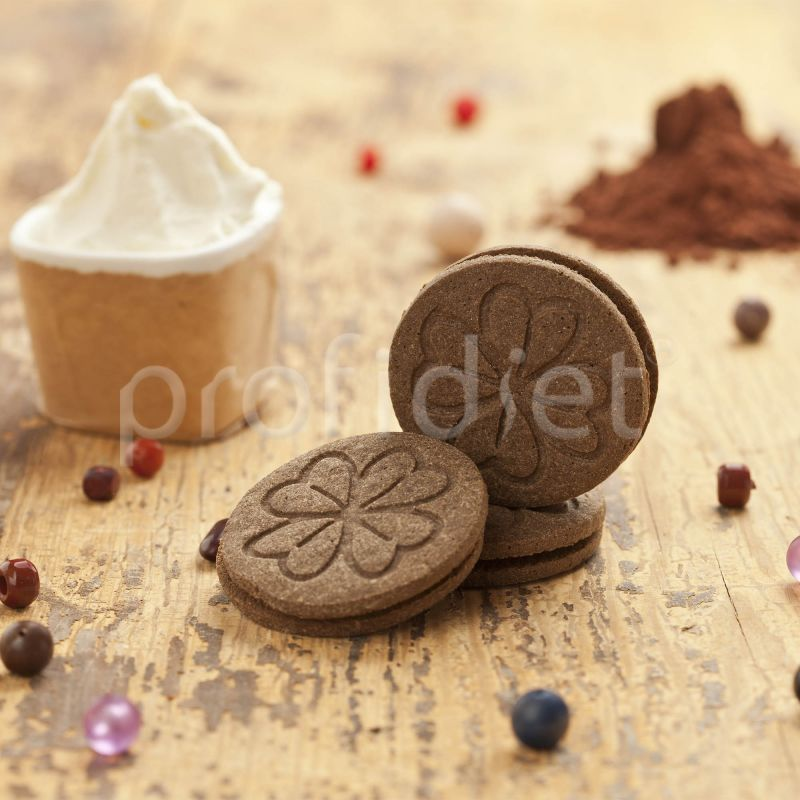 Kakaový keksík s krémovou náplňou 1. fáza