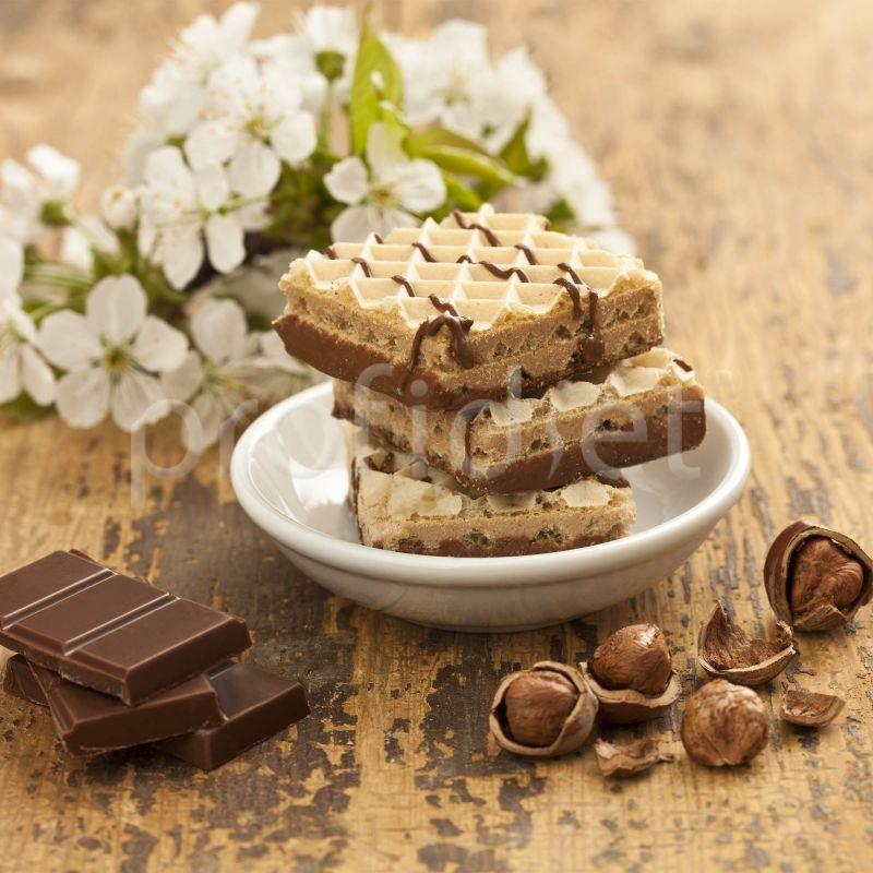Vafle s čokoládovo-orieškovou príchuťou