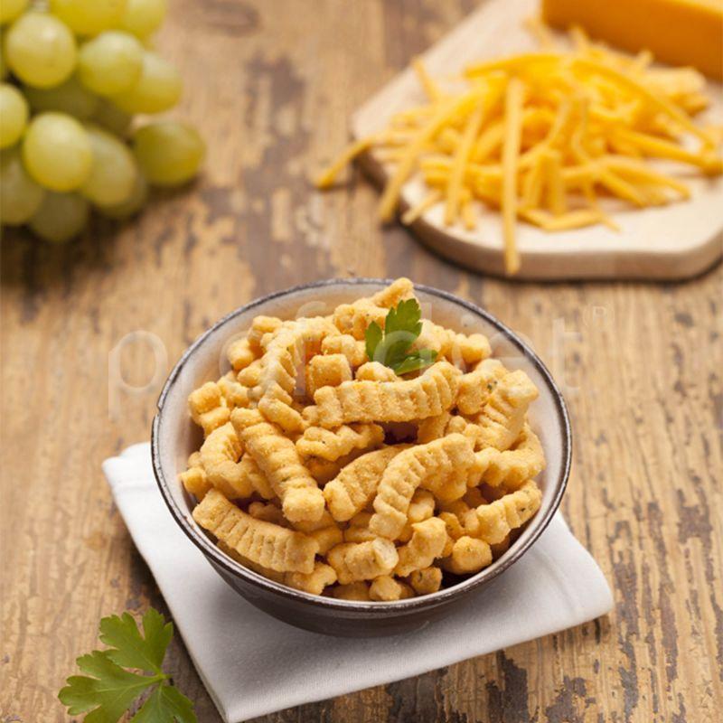 Snack s príchuťou syra cheddar