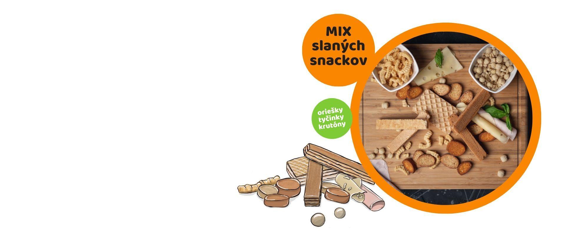 Privítajte MIX slaných snackov